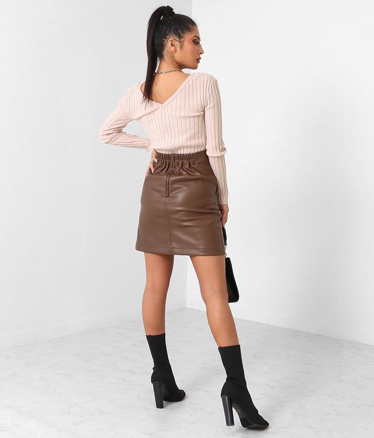 フェイクレザー台形スカート(ボトムス・パンツ /スカート)   anap Latina