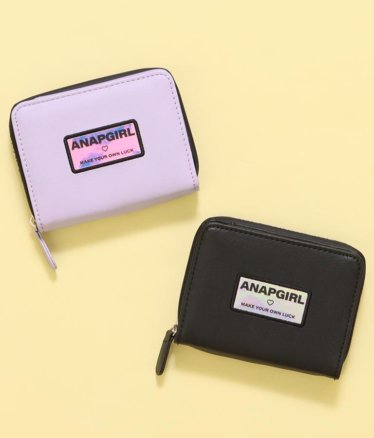 ロゴジップ二つ折り財布(ファッション雑貨/財布 ・長財布・二つ折り(折りたたみ財布) ) | ANAP GiRL