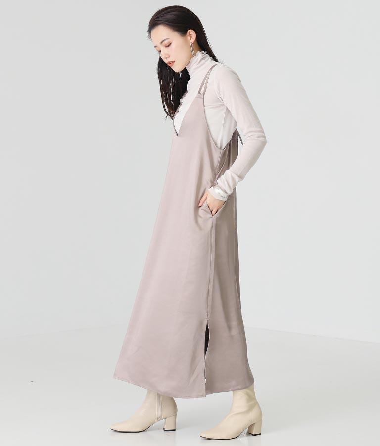 ヘビーウェイトサテンキャミワンピース(ワンピース・ドレス/ロングワンピ) | Alluge