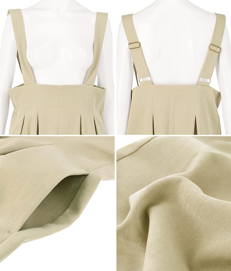モールツイルタックサロペット(ワンピース・ドレス/サロペット/オールインワン)   Alluge