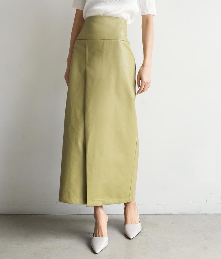 フェイクレザーラップロングスカート(ボトムス・パンツ /スカート) | ANAP