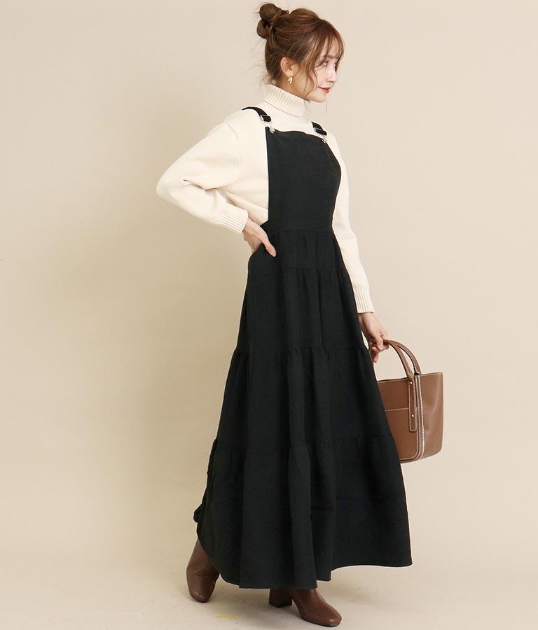 起毛ツイルティアードジャンパースカート(ワンピース・ドレス/ロングワンピ) | CHILLE