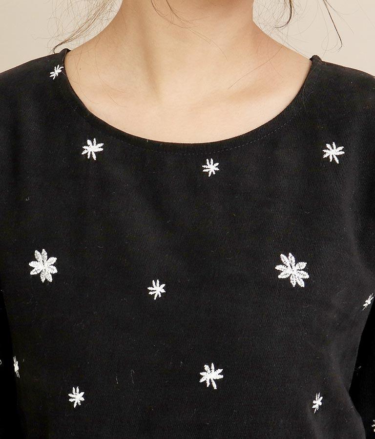 花刺繍バックリボンワンピース(ワンピース・ドレス/ロングワンピ) | CHILLE