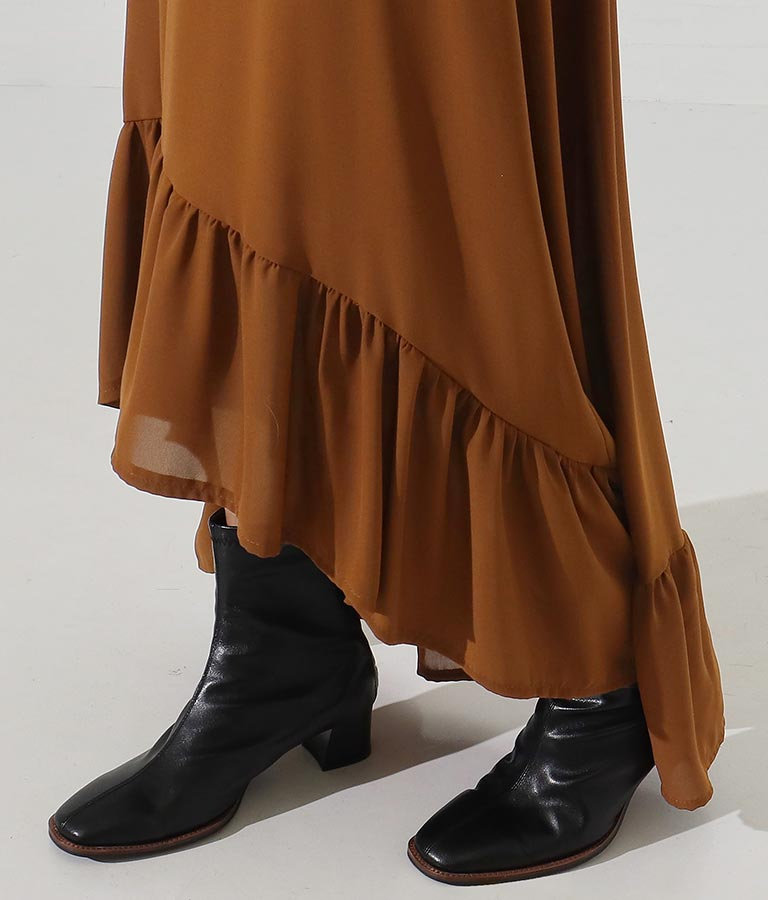 ボウタイバックテールデザインロングワンピース(ワンピース・ドレス/ロングワンピ・マキシ丈ワンピース) | Settimissimo