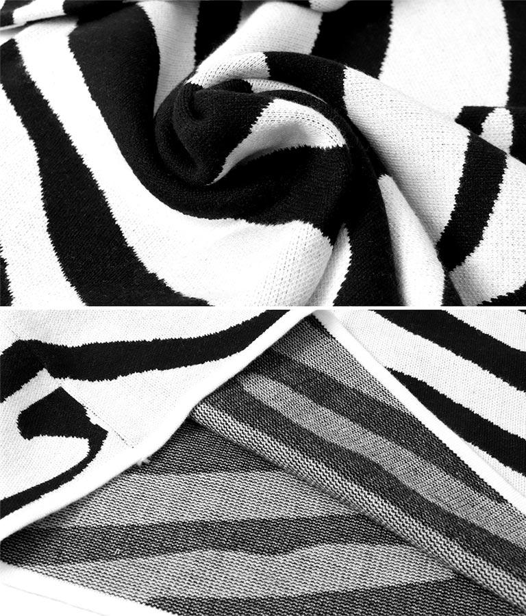 ゼブラ柄ジャガードクオータースリーブチュニック(トップス/ニット/セーター) | anap Latina