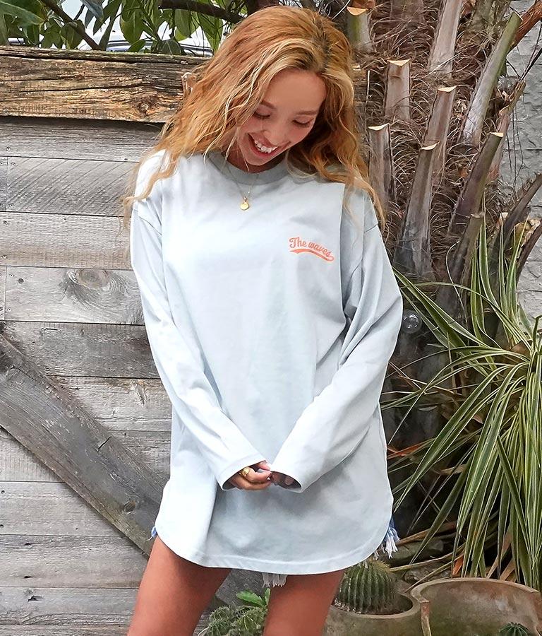 裾ラウンドプリントロングTシャツ(トップス/Tシャツ・カットソー ・ロングTシャツ) | anap mimpi