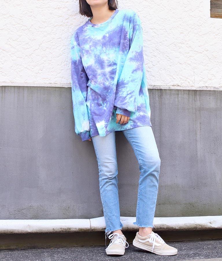 タイダイロングTシャツ(トップス/Tシャツ・カットソー ・ロングTシャツ) | anap mimpi