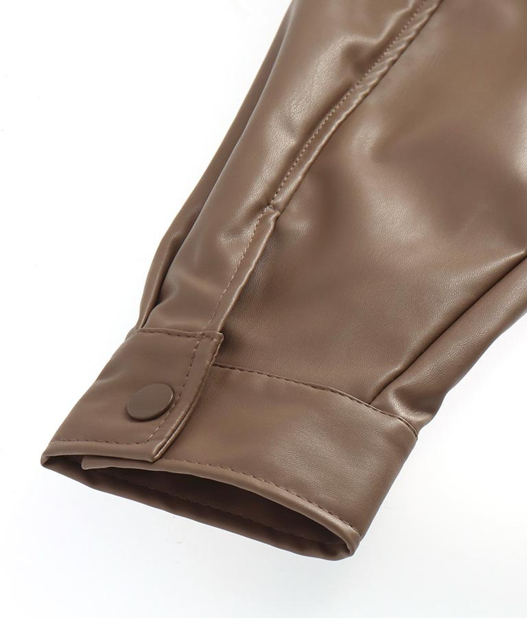 エコレザーカバーオールジャケット(アウター(コート・ジャケット) /ジャケット・ブルゾン)   ANAP