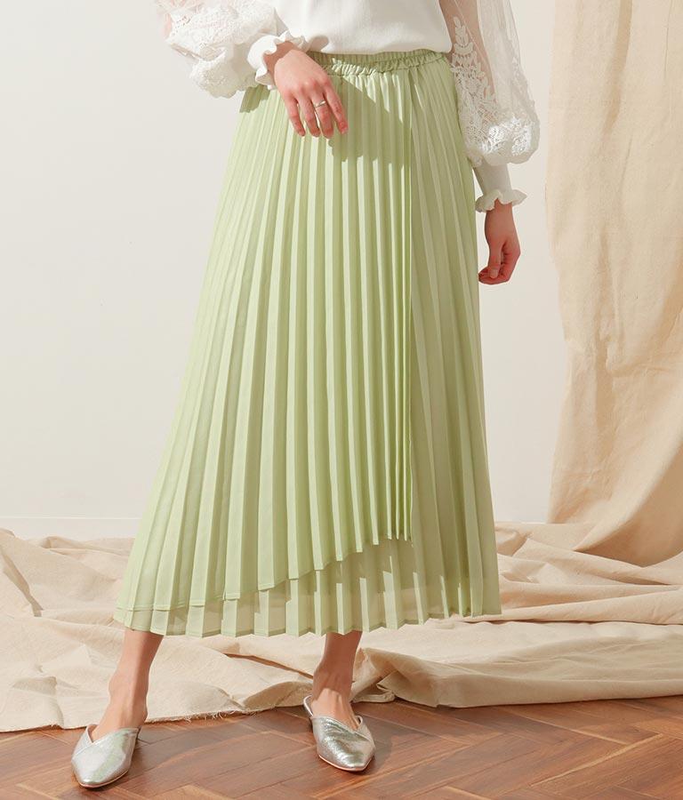 シレーレザープリーツスカート(ボトムス・パンツ /スカート) | Alluge