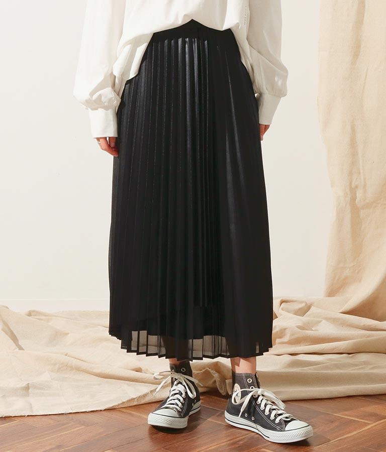 シレーレザープリーツスカート