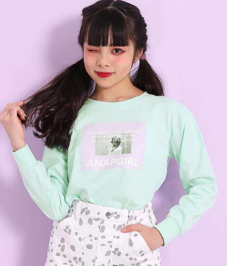 カラーボックス転写ロンT(トップス/Tシャツ・ロングTシャツ) | ANAP GiRL