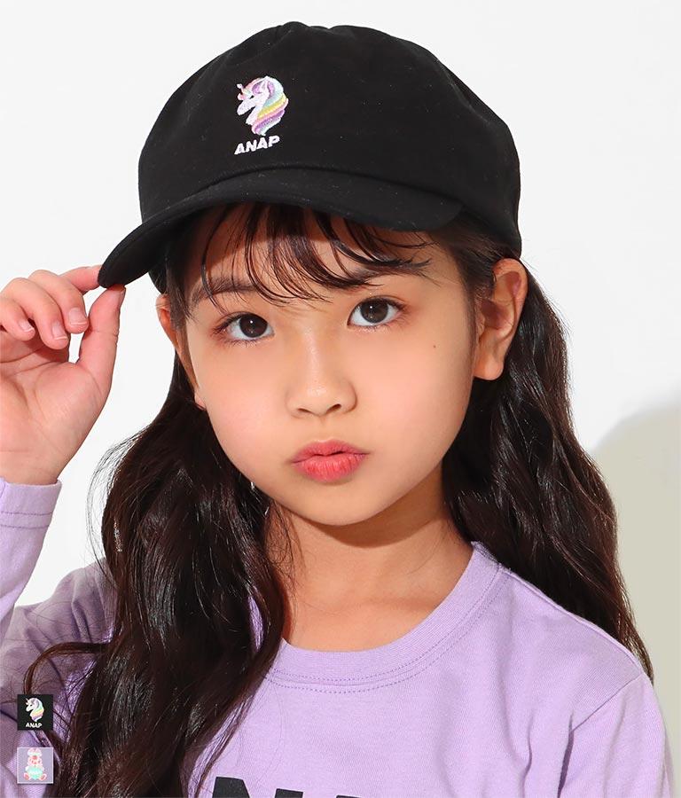 刺繍キャラモチーフキャップ(ファッション雑貨/ハット・キャップ・ニット帽 ・キャスケット・ベレー帽) | ANAP KIDS