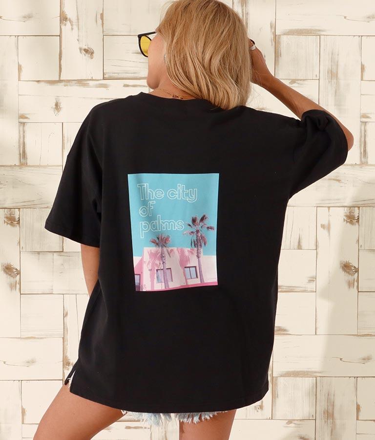 パームツリーフォトビッグTシャツ