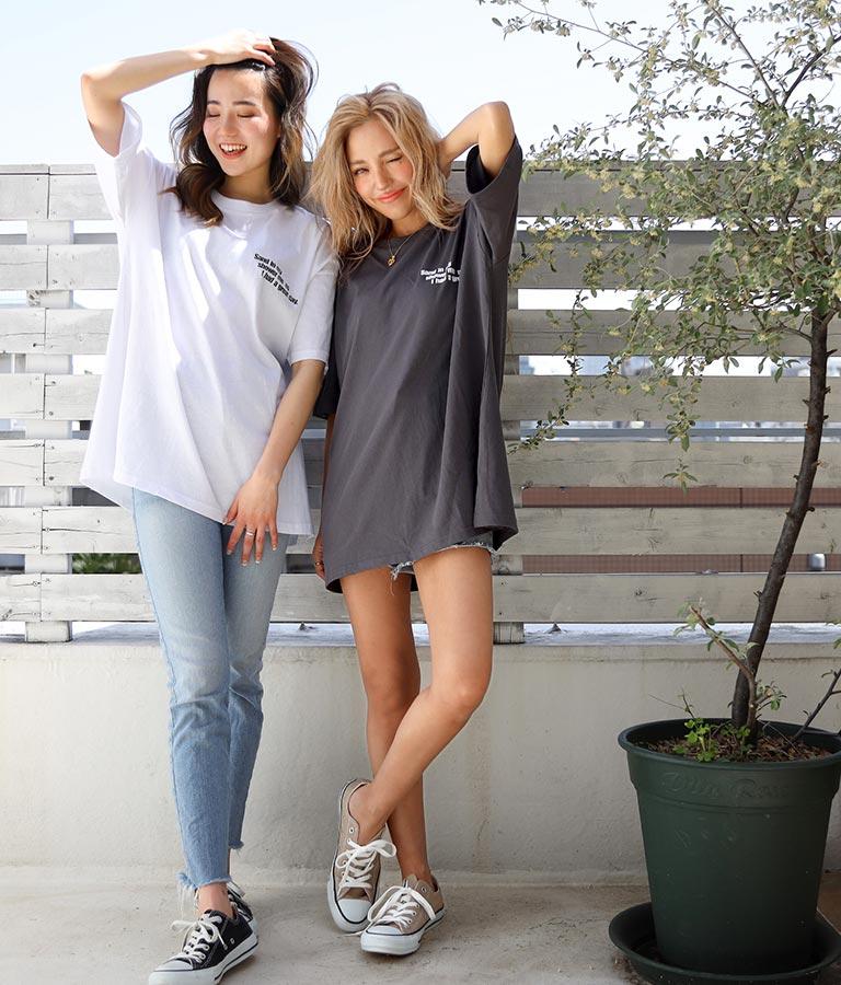 サーフィングフォトビッグTシャツ(トップス/Tシャツ)   anap mimpi