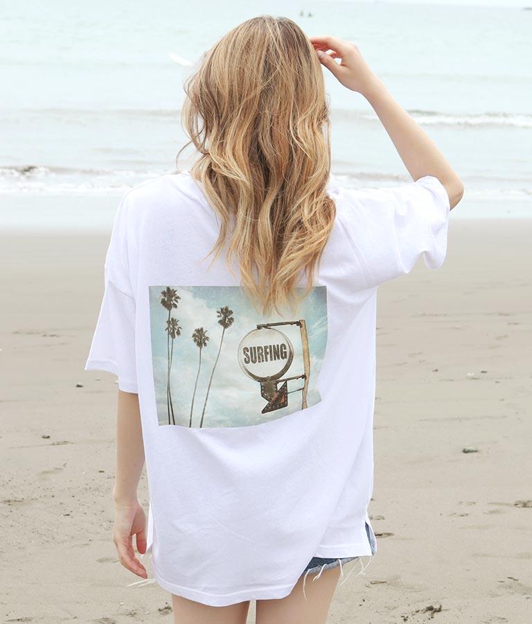 サーフィングフォトビッグTシャツ