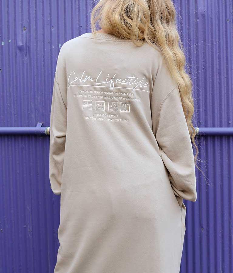 刺繍スウェットマキシワンピース(ワンピース・ドレス/ロングワンピ)   anap mimpi