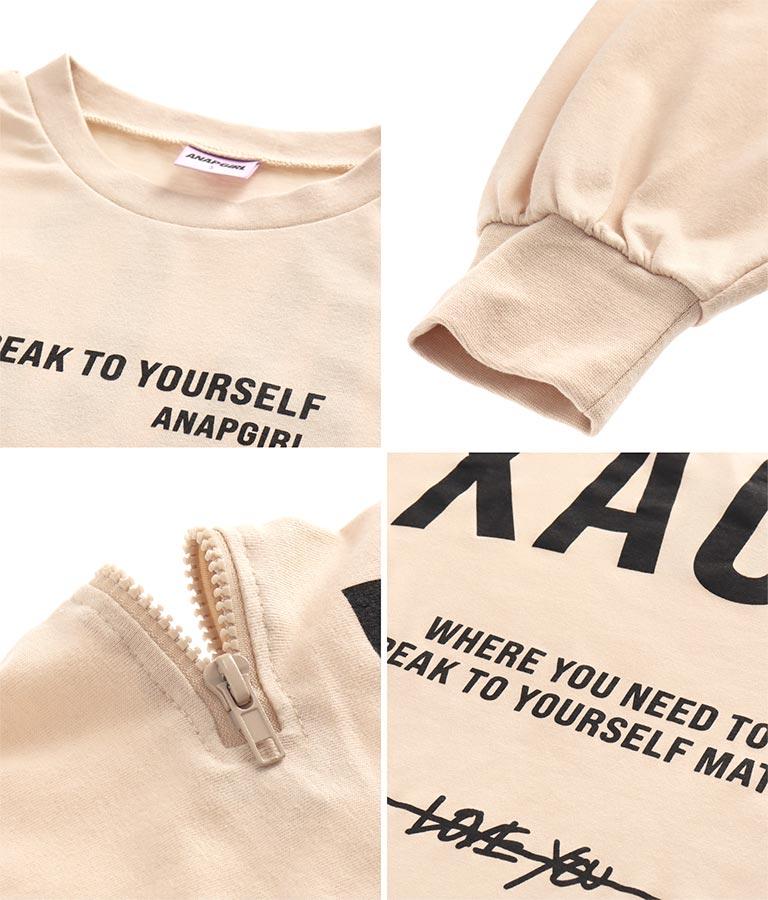 袖ジップバックプリントロンT(トップス/Tシャツ・カットソー ・ロングTシャツ) | ANAP GiRL