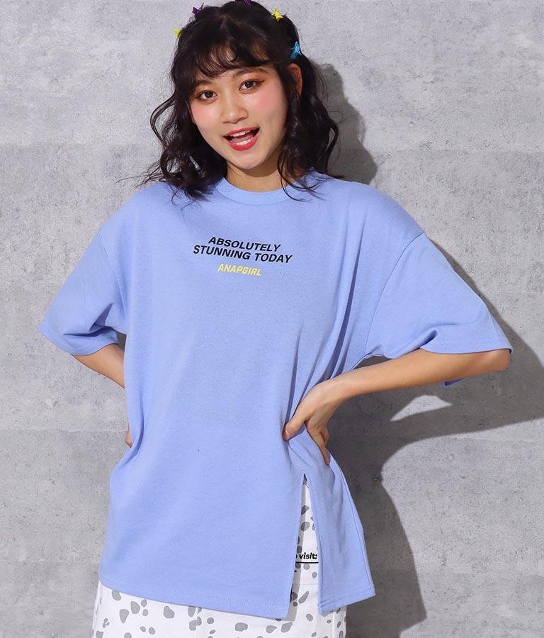後ビッグプリントスリットトップス(トップス/Tシャツ・カットソー ) | ANAP GiRL