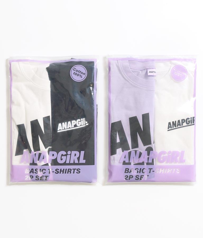 ビッグロゴ&スモールロゴTシャツ2枚セット | ANAP GiRL