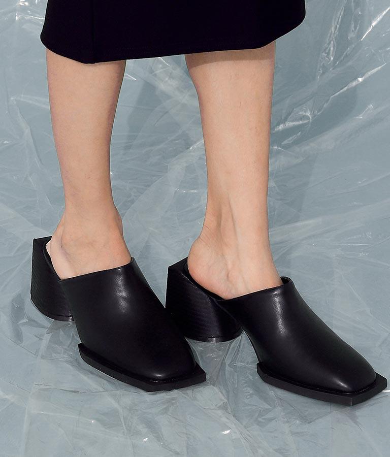スクエアトゥーサボ(シューズ・靴/パンプス) | ANAP