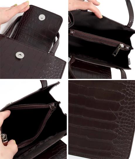 スクエアフラップ2WAY型押しミニトートバッグ(バッグ・鞄・小物/ショルダーバッグ・トートバッグ) | Factor=