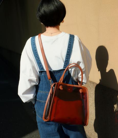 ポーチ付きクリアマルチショルダートートバッグ(バッグ・鞄・小物/ショルダーバッグ・トートバッグ) | Factor=