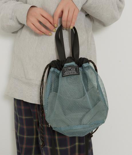 メッシュ巾着2WAYトートバッグ(バッグ・鞄・小物/ショルダーバッグ・トートバッグ) | Factor=