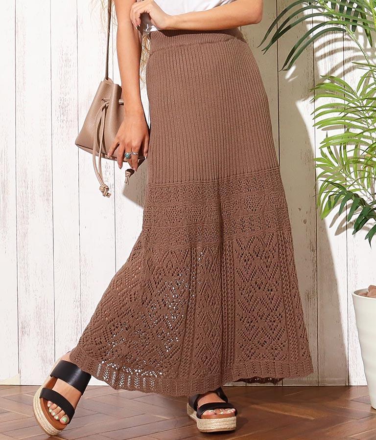 クロシェ編みタイトスカート