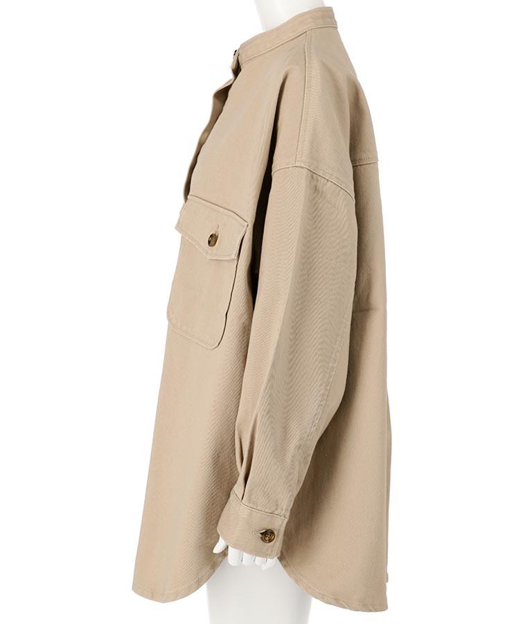ツイルスタンドカラービッグシャツジャケット(アウター(コート・ジャケット) /ジャケット・ブルゾン) | anap mimpi