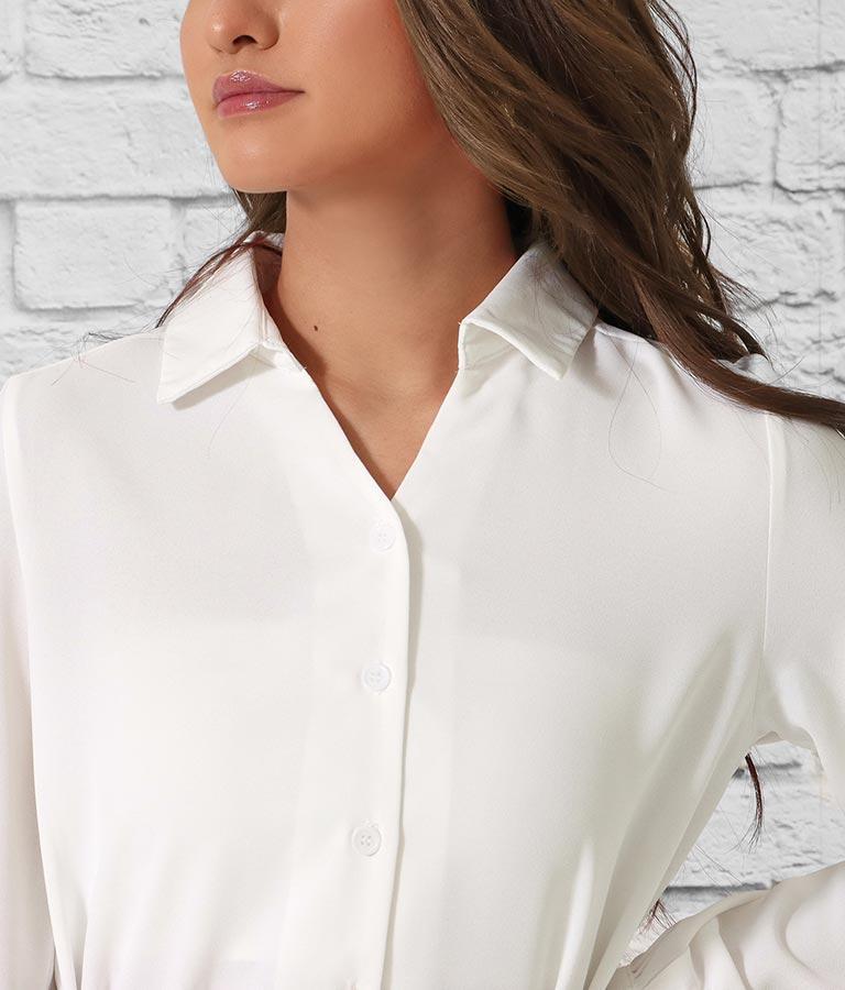 ベルト付ロングテールシャツ(トップス/シャツ・ブラウス) | anap Latina