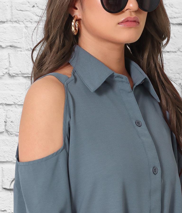 デザインオープンルーズシャツ | anap Latina