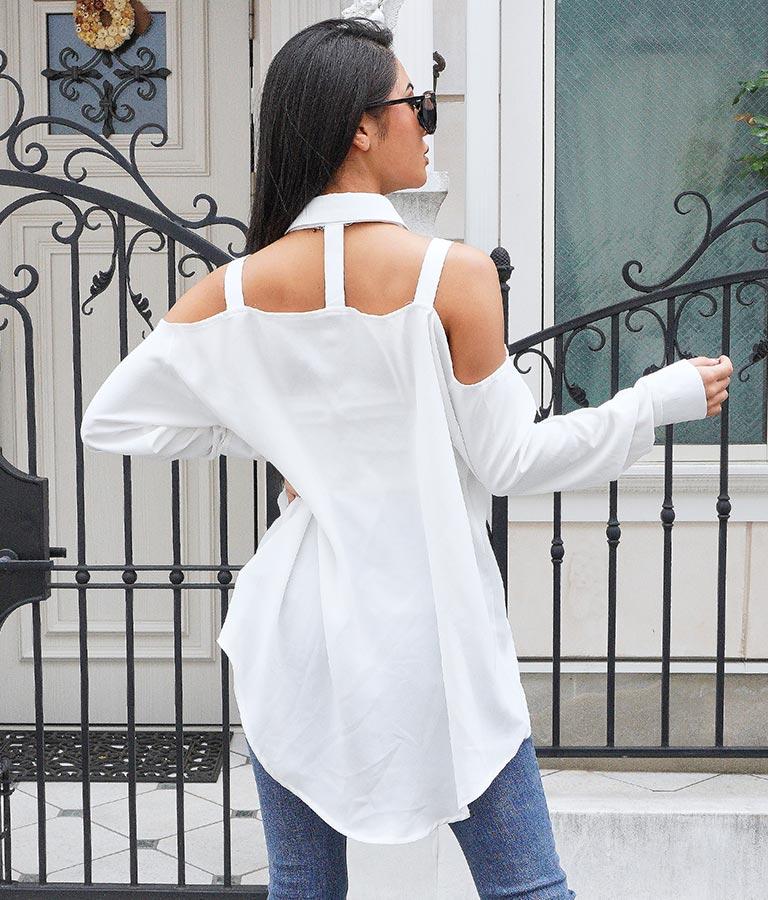 デザインオープンルーズシャツ(トップス/シャツ・ブラウス) | anap Latina