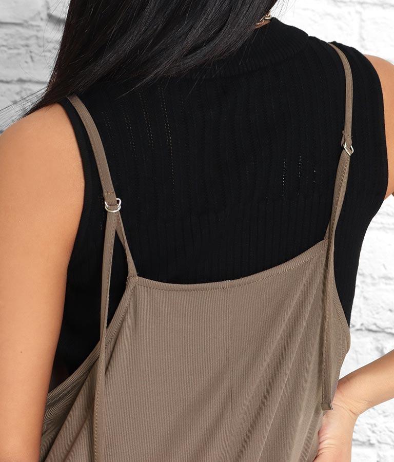 サラサラテレコリブサロペット(ワンピース・ドレス/サロペット/オールインワン) | anap Latina