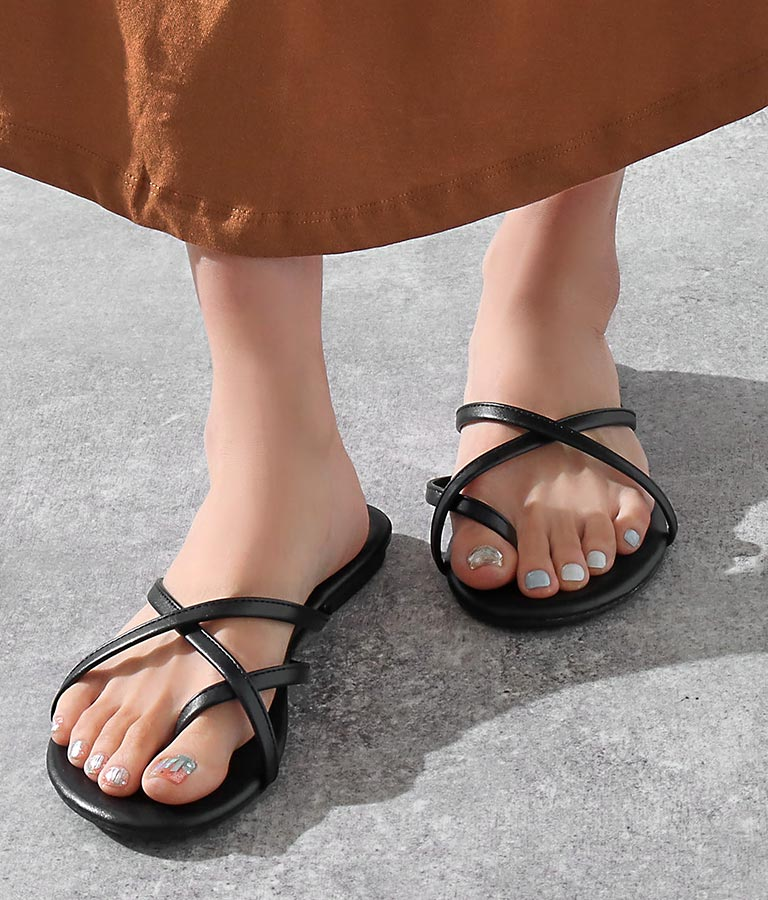 ダブルクロストングサンダル(シューズ・靴/サンダル) | Alluge