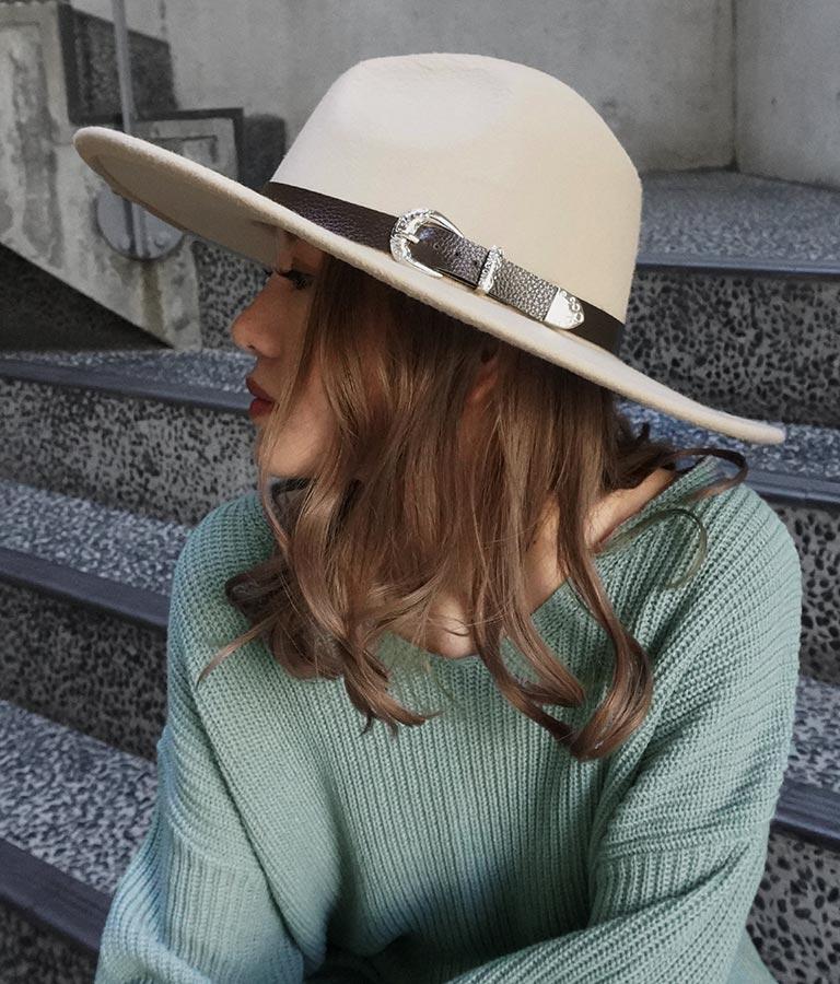ベルトデザインハット(ファッション雑貨/ハット・キャップ・ニット帽 ・キャスケット・ベレー帽) | ANAP