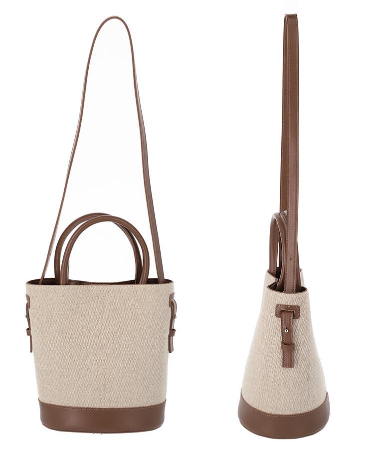 フェイクレザー×キャンバスバッグ(バッグ・鞄・小物/ハンドバッグ・ショルダーバッグ) | ANAP