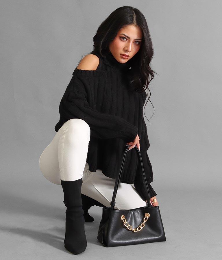 チェーンデザインショルダーバッグ(バッグ・鞄・小物/ショルダーバッグ) | anap Latina