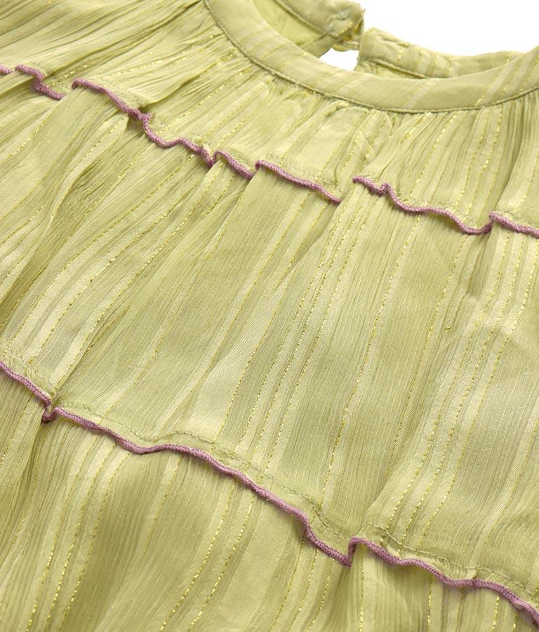 ラメシフォン配色メローブラウス(トップス/シャツ・ブラウス) | Alluge