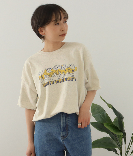 Bear プリントTシャツ