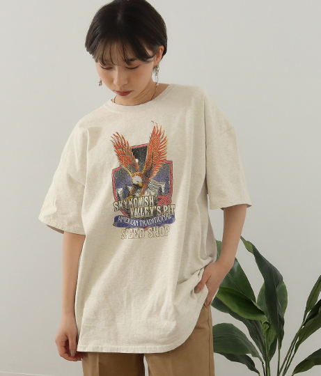 イーグルプリントTシャツ