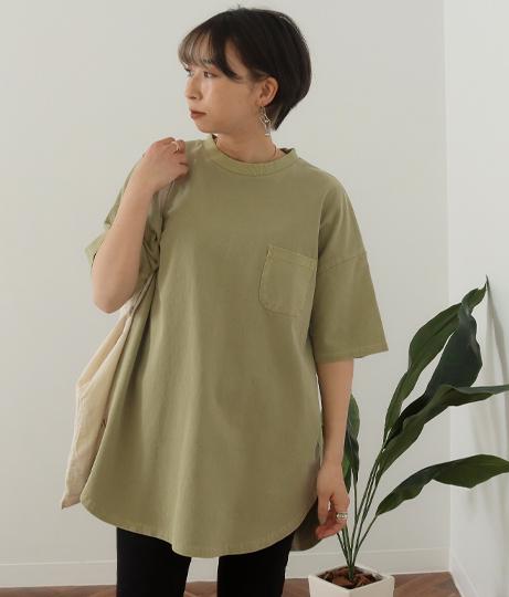 ビッグシルエット加工入りTシャツ(トップス/Tシャツ) | Factor=
