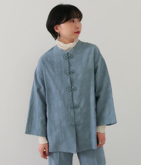 チャイナ釦シャツジャケット