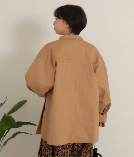 スタンドカラーミリタリージャケット(アウター(コート・ジャケット) /ジャケット・ブルゾン) | Factor=