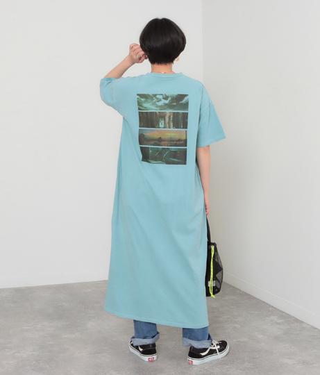 Backフォトプリント加工入りロングワンピース(ワンピース・ドレス/ロングワンピ) | Factor=
