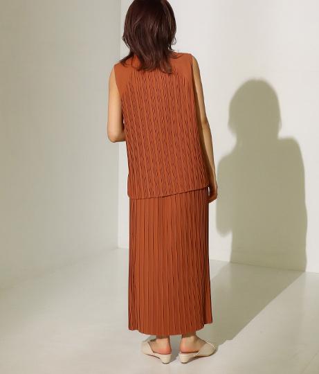【低身長向けサイズ】Iラインロングプリーツスカート(ボトムス・パンツ /スカート)   AULI
