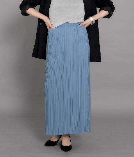 【低身長向けサイズ】Iラインロングプリーツスカート