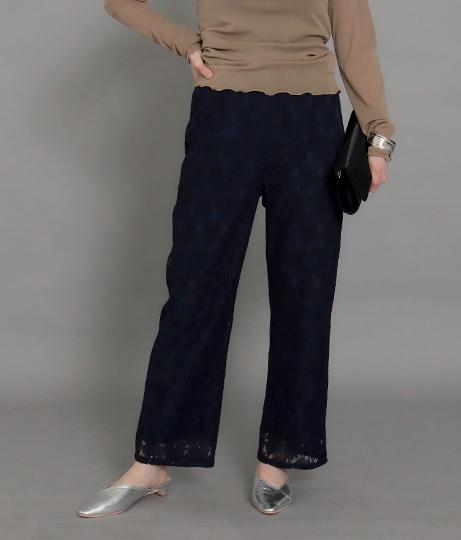 【裾上げ無料サービス対象商品】【低身長向けサイズ】レースパンツ(ボトムス・パンツ /ロングパンツ)   AULI