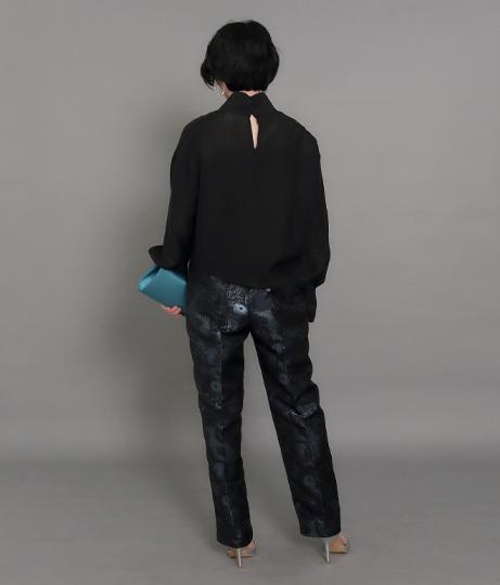 【低身長向けサイズ】ジャカードテーパードパンツ(ボトムス・パンツ /ロングパンツ) | AULI