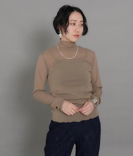 【低身長向けサイズ】シアータートルメロートップス