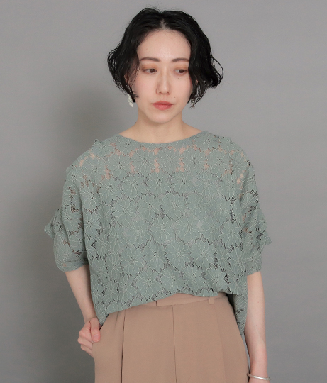 【低身長向けサイズ】袖タックレースブラウス | AULI